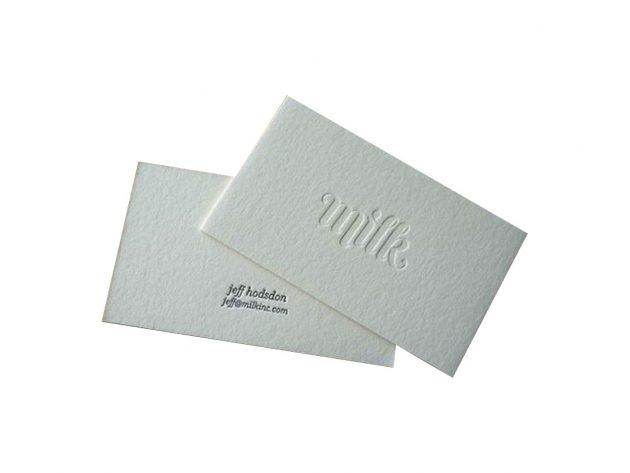 Επαγγελματικές Κάρτες Ανάγλυφες