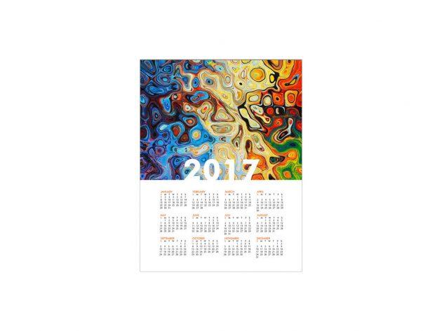 Μονόφυλλο Ημερολόγιο Τοίχου