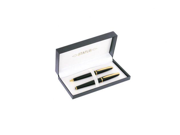 Σετ στυλό-Roller μαύρο με χρυσό