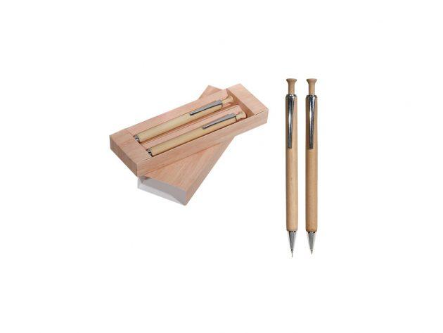 Σετ ξύλινο στυλό-μηχανικό μολύβι