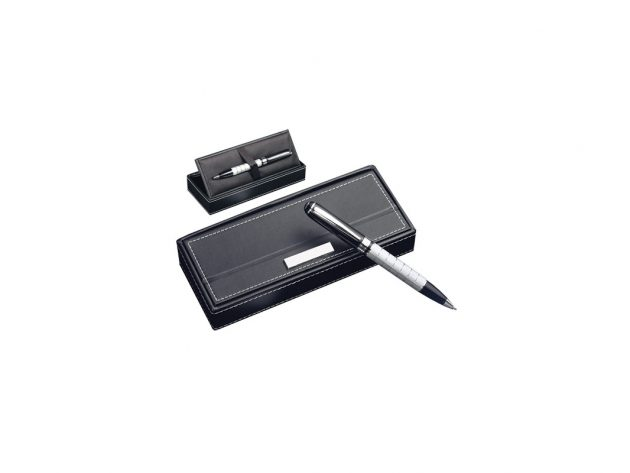 Στυλό μαύρο με ασημί
