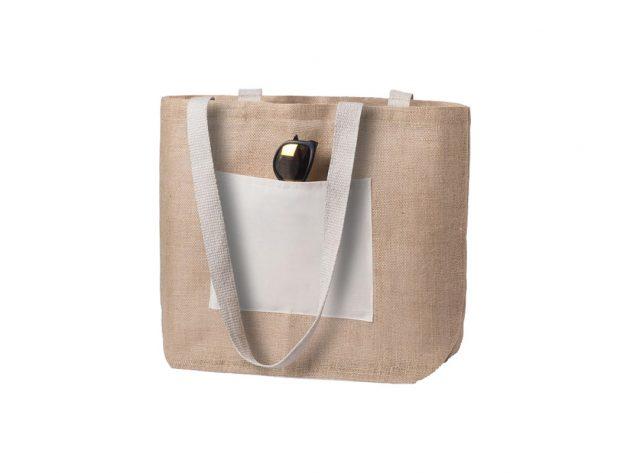 Τσάντα από Γιούτα με Βαμβακερή Θήκη