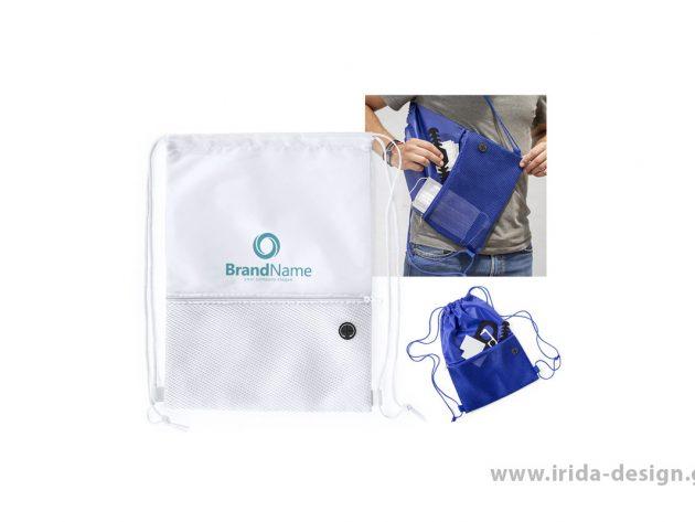 Backpack με Κορδόνια και Έξοδο Ακουστικών