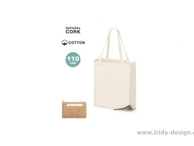 Αναδιπλούμενη Τσάντα από Βαμβάκι και Φελλό
