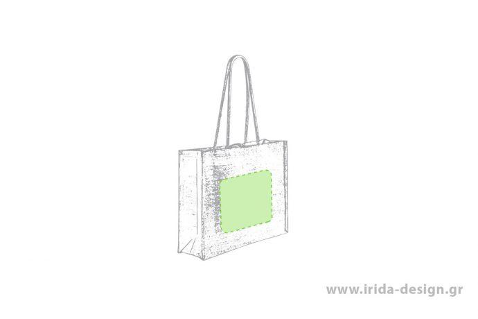 Τσάντα από Πλαστικοποιημένη Γιούτα